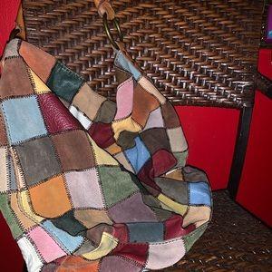 Vintage PatchWork Multi Color Leather Bag